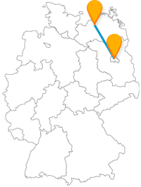 So fährt der Fernbus von Berlin nach Rostock (Karte)