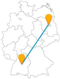 Der Fernbus zwischen Berlin und Stuttgart (Grafik)