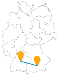 Dicht getaktet fährt der Fernbus von München nach Stuttgart