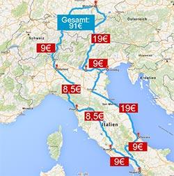 Bus nach Italien