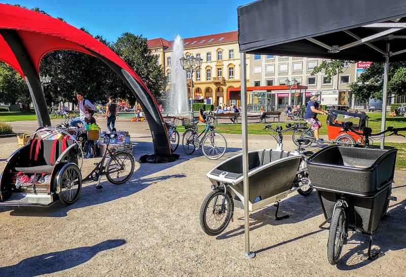 Lastenrad-Show in Karlsruhe