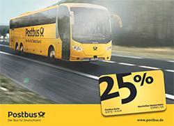 Mit der Postbus Karte günstige Busreisen verschenken.