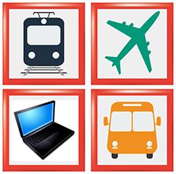 Bus, Bahn, Flug für Kurzreisen