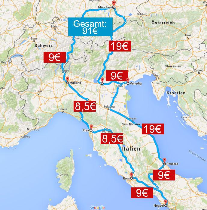 Mit Dem Bus Nach Italien Busliniensuche De