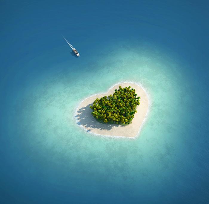 Genießen Sie Ihre Valentinsfahrt zur Liebesinsel Ihrer Wahl.