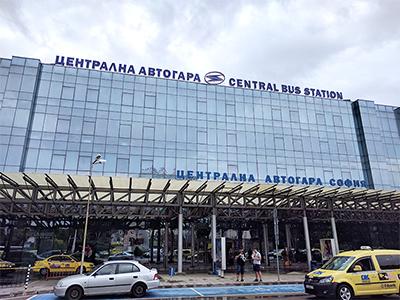 Zentraler Busbahnhof in Sofia, Bulgarien