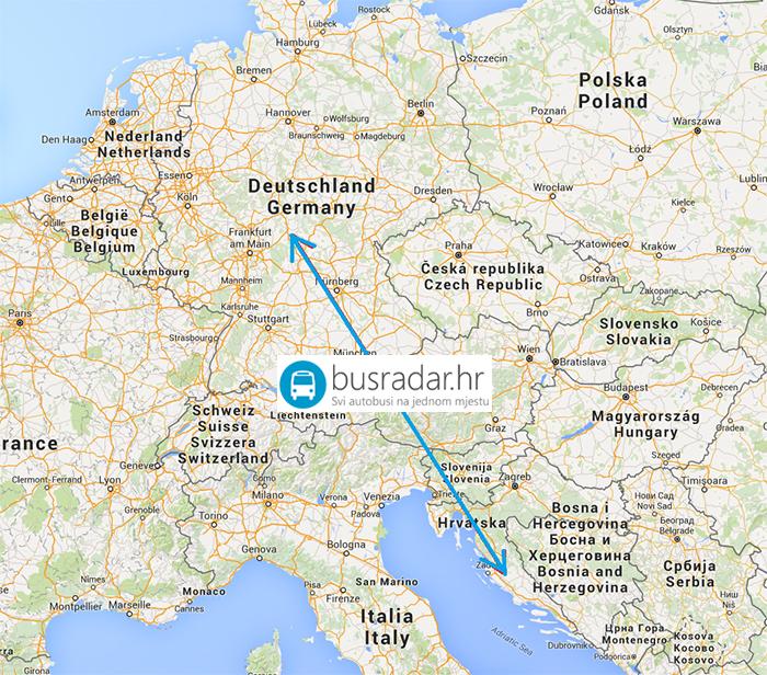 Zemljopisna Karta Njemacke Karta