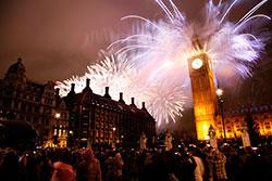 Take an ultra low cost bus trip on New Years Eve in a comfortable intercity bus.