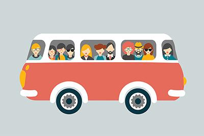 Reisende im Bus - vorerst nicht mehr möglich