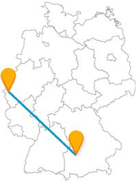 Schatzkammer, Puppenkiste und Sozialsiedlung - die Reise mit dem Fernbus von Aachen nach Augsburg bringt in jedem Fall Abwechslung.