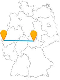 Entdecken Sie mit dem Fernbus zwischen Aachen und Erfurt eine alte Gaststätte und einen großen Park.