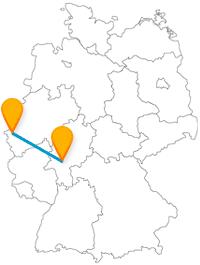 Der Fernbus von Aachen nach Frankfurt am Main verbindet zwei Dome.