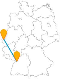 Verbinden Sie mit dem Fernbus zwischen Aachen und Karlsruhe ganz unterschiedliche Sehenswürdigkeiten.