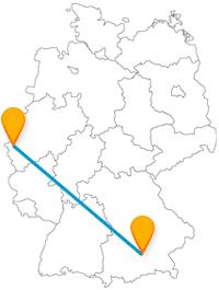Nach Ihrer Reise im Fernbus zwischen Aachen und München bieten sich Ihnen viele Wandermöglichkeiten und Spaziergänge an.