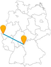 Ob Schatzkammer oder Barockschloss, lassen Sie sich auf der Reise mit dem Fernbus zwischen Aachen und Würzburg nichts entgehen.