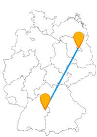 Die Reise im Fernbus zwischen Aalen und Berlin hat auch Freilichtanlagen und Open Air Galerien zu bieten.