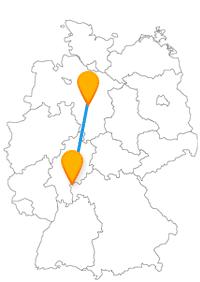 Römisch antikes Wohnen erleben oder Shoppen gehen, der Fernbus Aschaffenburg Hannover ist für beides eine gute Wahl.
