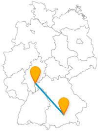 Pompejanum oder Olympiaturm - die Fernbusfahrt von Aschaffenburg nach München zeigt interessante Sehenswürdigkeiten.