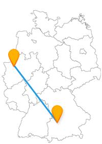 Besuchen Sie mit dem Fernbus Augsburg Bottrop zum einen eine der ältesten Städte Deutschlands und zum anderen eine schwingende Treppe.