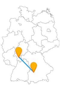 Mit der Reise im Fernbus Augsburg Darmstadt erwarten Sie ein besonderer Brunnen und ein besonderer Dom.