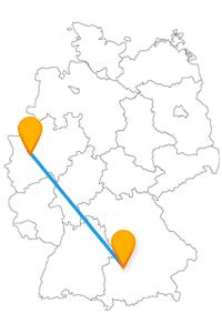 Ihre Fernbusreise zwischen Augsburg und Düsseldorf könnte Sie dazu verleiten, bis in die Puppen zu feiern.