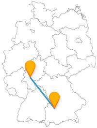 Mehrere Millionen Pflanzenarten oder ein bekannter Berg, der Fernbus zwischen Augsburg und Frankfurt am Main bringt Sie zuverlässig ans Ziel.