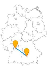 Viele Berühmtheiten erwarten Sie nach der Fahrt im Fernbus Augsburg Heidelberg.
