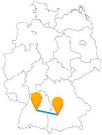 Nutzen Sie die Fahrt im Fernbus Augsburg Stuttgart, um günstig zwischen Bayern und Baden-Württemberg zu pendeln.
