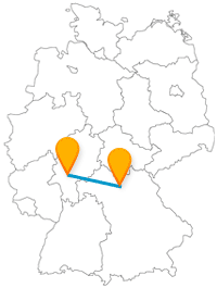 Finden Sie auf Ihrer Reise mit dem Fernbus zwischen Bamberg und Frankfurt historische Gebäude und weite Grünflächen.