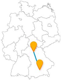 Die Fahrt im Fernbus zwischen Bamberg und München gibt Ihnen Einblick in ehemalige Bischofswohnungen und führt Sie zu einem berühmten Hörgenuss.