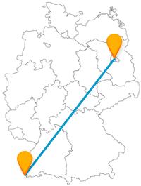 Entdecken Sie auf Ihrer Fernbusreise zwischen Basel und Berlin goldene Türme und barocke Gartenanlagen.
