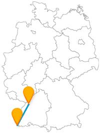 Die Reise mit dem Fernbus von Basel nach Karlsruhe bringt Sie von einer schönen Alstadt zur nächsten.