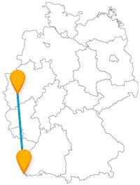 Die Reise im Fernbus zwischen Basel und Köln könnte besonders für Kinder spannend werden.