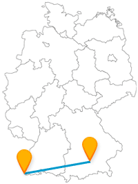 Eine Reise im Fernbus zwischen Basel und München lohnt sich das ganze Jahr über.