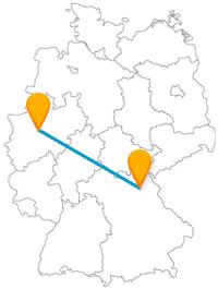 Die Reise mit dem Fernbus von Bayreuth nach Dortmund legt einige hundert Kilometer zurück.