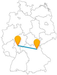 Die Fernbusfahrt von Bayreuth nach Frankfurt lädt an beiden Zielen zu entspannten Aktivitäten ein.