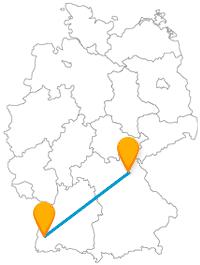 Die Reise mit dem Fernbus von Bayreuth nach Freiburg: Reisen Sie einmal quer durch Süddeutschland.