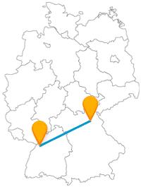 Die Reise mit dem Fernbus von Bayreuth nach Karlsruhe lohnt sich vor allem für Fans von Schlössern.