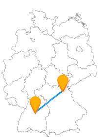 Eine Fahrt mit dem Fernbus von Bayreuth nach Stuttgart bringt Sie zur Lohengrin Therme und zum Carl-Zeiss-Planetarium.