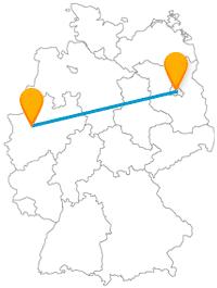 Die Reise mit dem Fernbus von Berlin nach Bottrop bringt Sie an eine Grenze und an eine Pyramide.