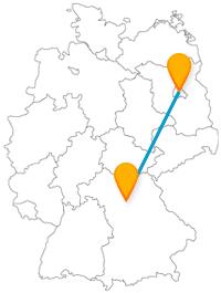 Bestaunen Sie auf Ihrer Fernbusreise zwischen Berlin und Erlangen 20.000 Pflanzenarten und erleben Sie ein großes Volksfest.