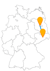 Der Fernbus von Berlin Flughafen Schönefeld (SXF) nach Dresden dient gut als Flughafen Bus für den SXF Airport.