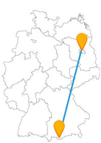 Gönnen Sie sich mit der Reise im Fernbus Berlin Garmisch-Partenkirchen entweder Metropolenflair oder geruhsame Atmosphäre.