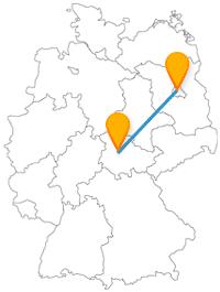 Machen Sie eine Fernbusreise zwischen Berlin und Gotha und entdecken Sie eine Open-Air-Gallery und ein Naturschutzgebiet.