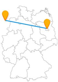 Entdecken Sie typische Windmühlen und den berühmten Grenzübergang, wenn Sie aus dem Fernbus Berlin Groningen aussteigen.
