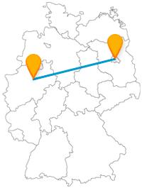 Die Reise mit dem Fernbus von Berlin nach Hamm bringt Sie von einer Open-Air-Gallery zu einem gläsernen Tier.