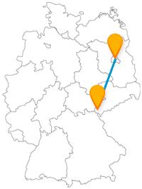 Verbinden Sie mit der Reise im Fernbus von Berlin nach Plauen Großstadttrubel mit geruhsamer Atmosphäre.