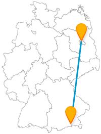 Die Reise mit dem Fernbus von Berlin nach Rosenheim bringt Sie von Deutschlands Hauptmetropole zu einem Ort für Freizeit- und Naturerlebnis.