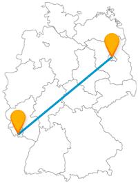 Die Reise mit dem Fernbus von Berlin nach Saarbrücken verbindet Shopping, Naturerleben und Sightseeing.