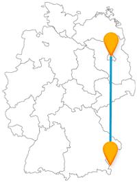 Entdecken Sie auf Ihrer Fernbusfahrt zwischen Berlin und Salzburg viele, sehr unterschiedliche Sehenswürdigkeiten.